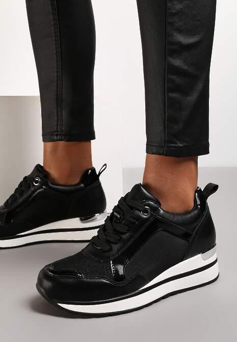 Czarne Sneakersy Laodythia