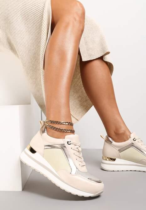 Beżowe Sneakersy Laodythia