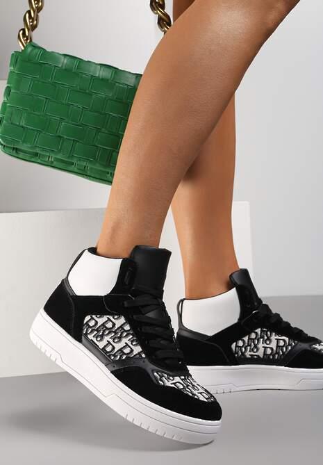 Czarne Sneakersy Salalirea
