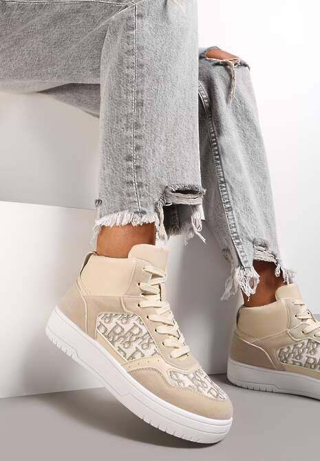 Beżowe Sneakersy Salalirea
