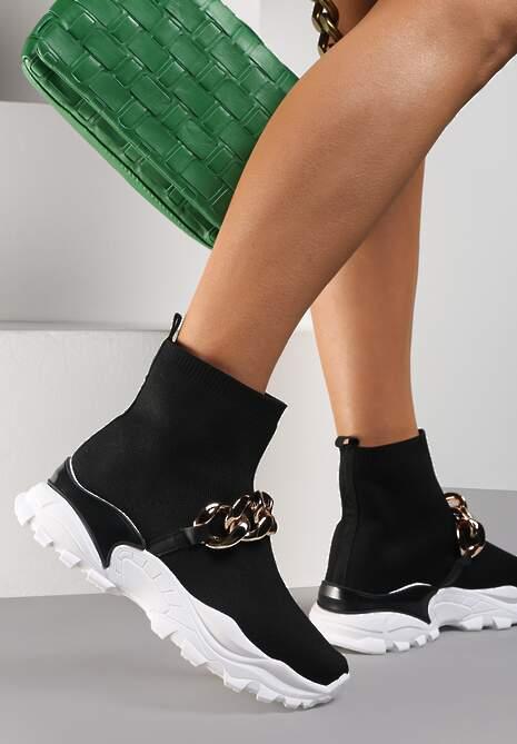 Czarne Sneakersy Lycape