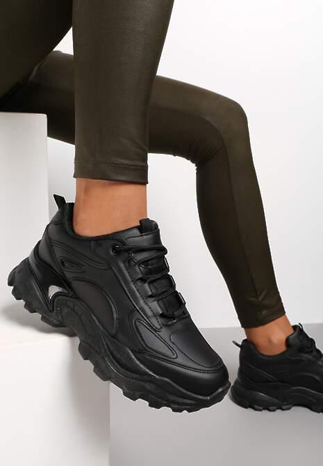 Czarne Sneakersy Althothee