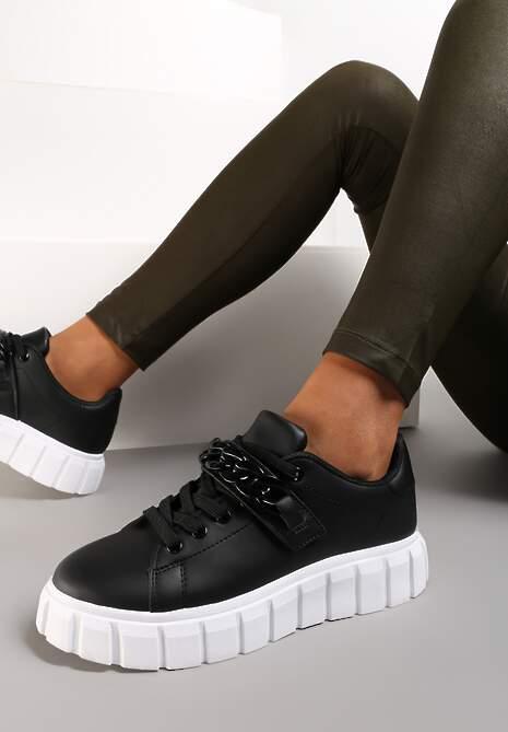 Czarne Sneakersy Palomela