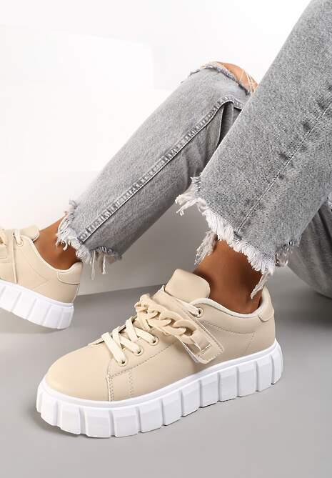 Beżowe Sneakersy Palomela