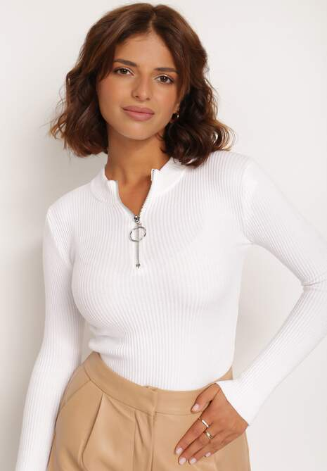 Biały Sweter Astania