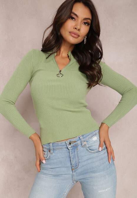 Zielony Sweter Astania