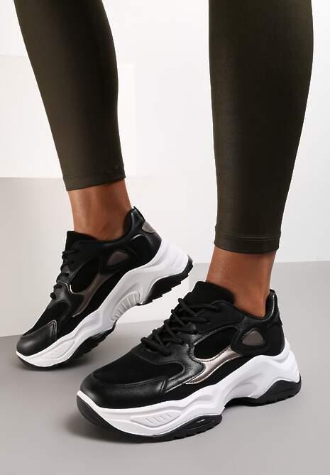 Czarne Sneakersy Daeiphaia