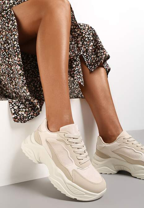 Beżowe Sneakersy Physarope