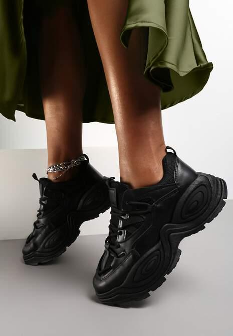 Czarne Sneakersy Savanise