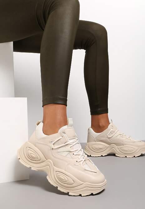 Beżowe Sneakersy Savanise