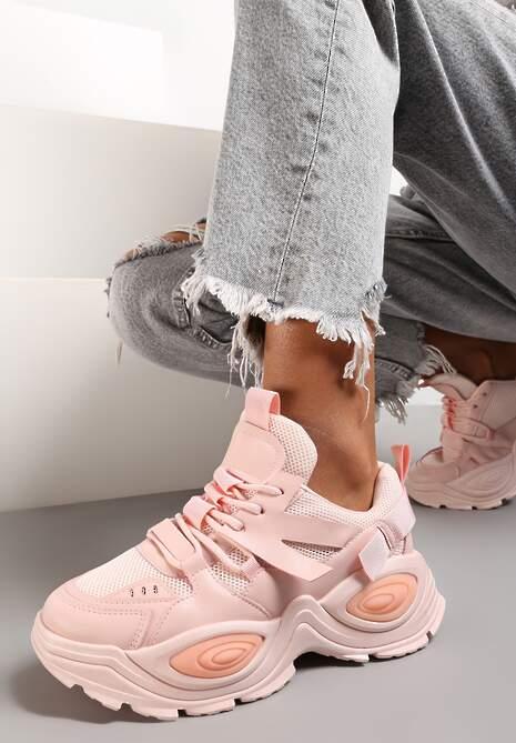 Różowe Sneakersy Talilura