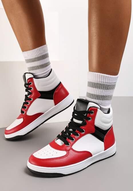 Biało-Czerwone Sneakersy Egolis