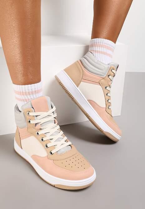 Beżowe Sneakersy Egolis
