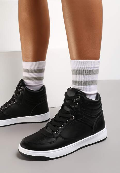 Czarne Sneakersy Egolis