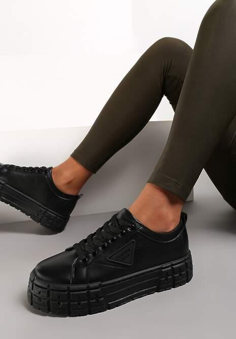 Czarne Sneakersy Naufa