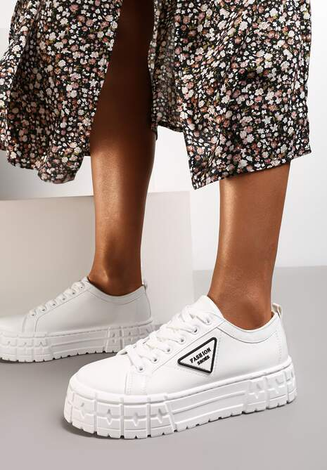 Białe Sneakersy Naufa