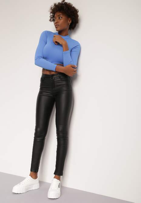 Czarne Spodnie Skinny Olothea