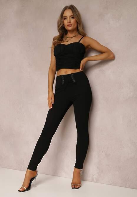 Czarne Spodnie Skinny Dynanthe