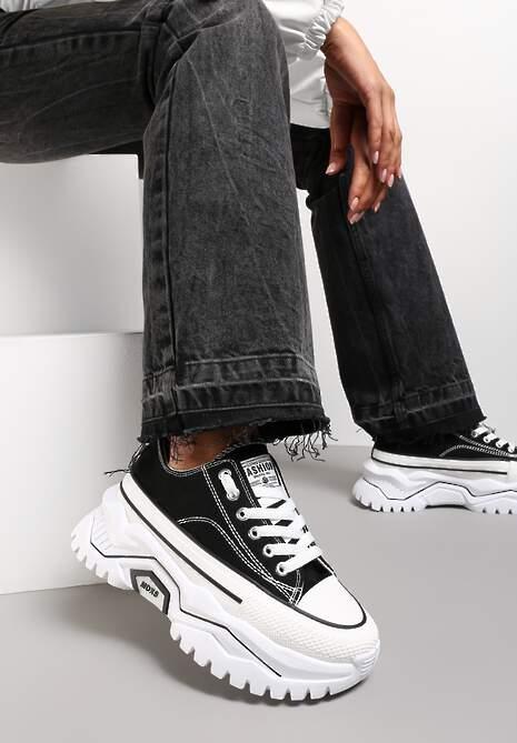 Czarne Sneakersy Tryphissa