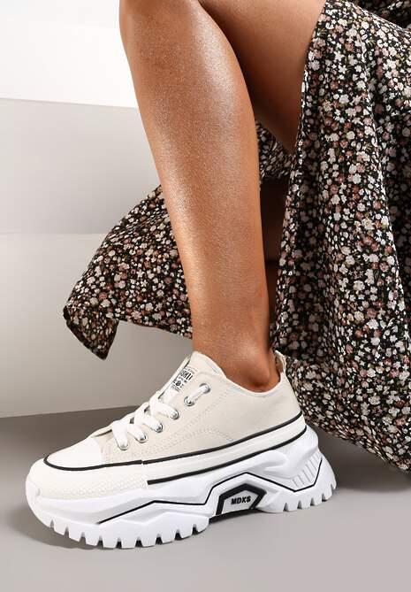 Beżowe Sneakersy Tryphissa
