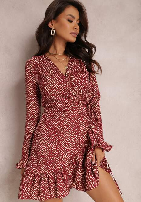Bordowa Sukienka Alcippe