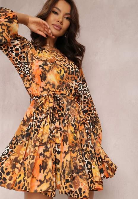 Pomarańczowa Sukienka Davidia