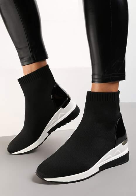 Czarne Sneakersy Diomiolea