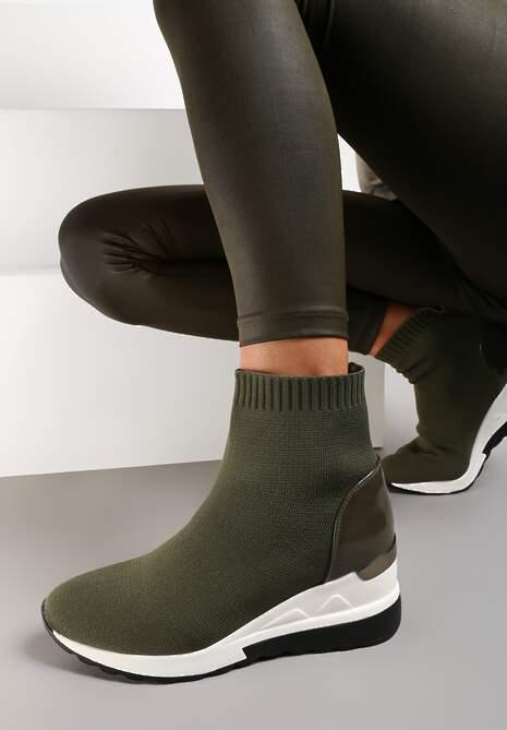 Oliwkowe Sneakersy Diomiolea