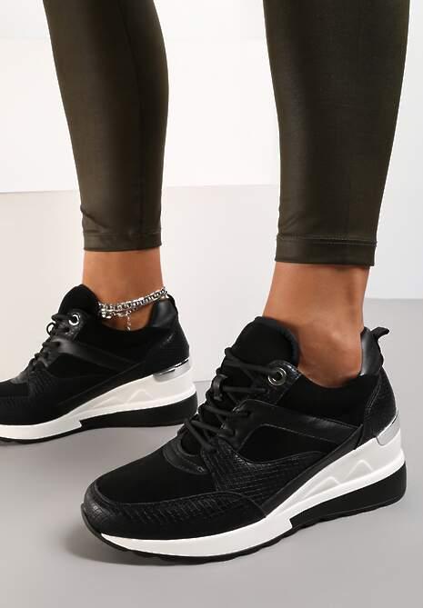 Czarne Sneakersy Argolis