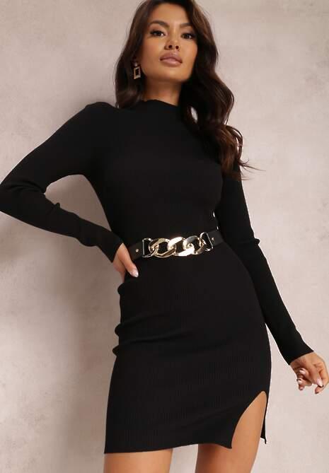 Czarna Sukienka Chrysilea