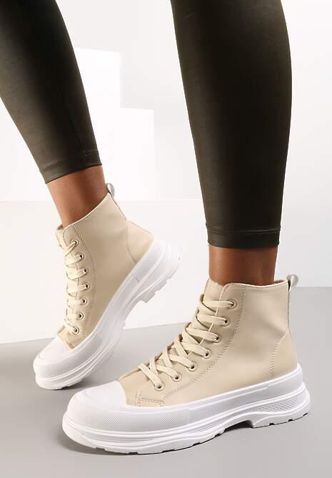 Beżowe Sneakersy Callinca