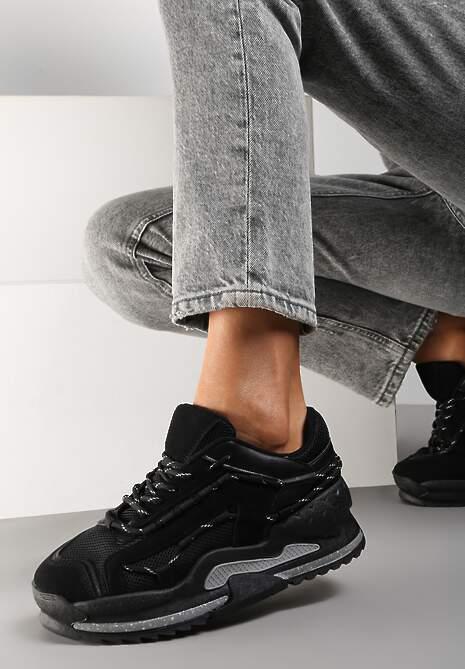 Czarne Sneakersy Polelle