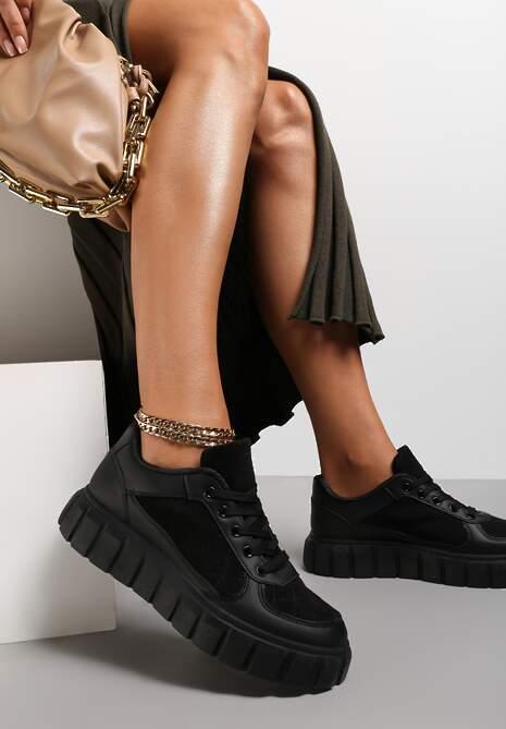 Czarne Sneakersy Aerothee