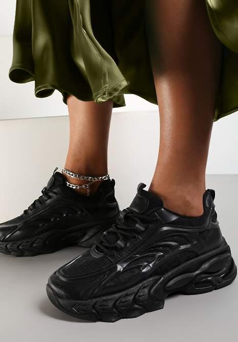 Czarne Sneakersy Isaste