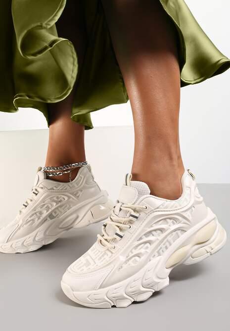 Beżowe Sneakersy Isaste