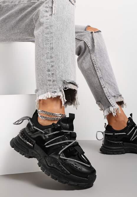 Czarne Sneakersy Prentum