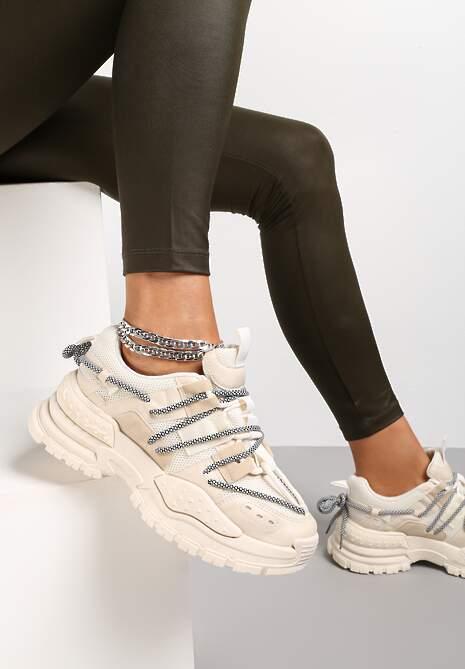 Beżowe Sneakersy Prentum