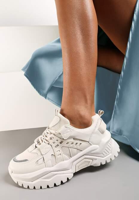 Beżowe Sneakersy Zaphreal