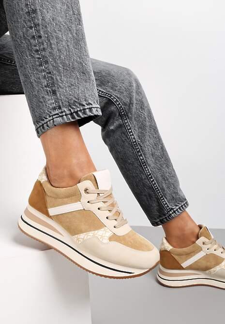 Beżowe Sneakersy Katenope