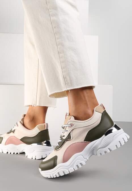Beżowe Sneakersy Kerbri