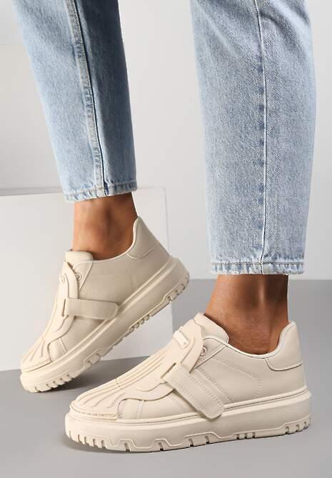 Beżowe Sneakersy Ismyne