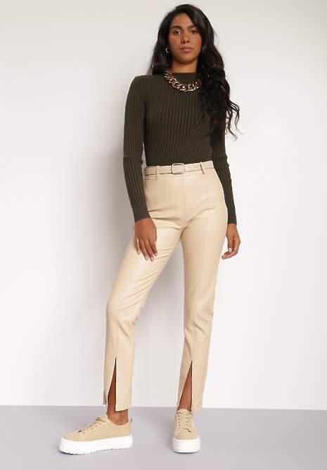 Jasnobeżowe Spodnie Phoebice