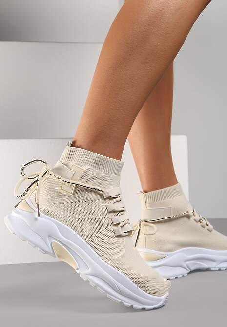 Beżowe Sneakersy Diomerine