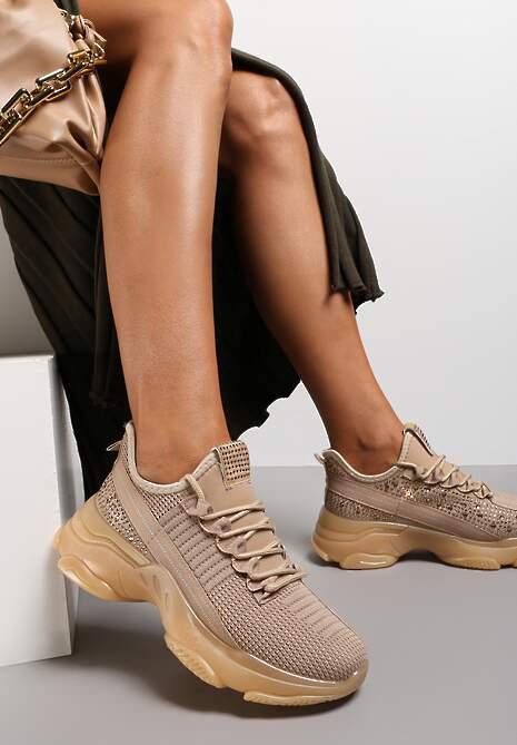 Beżowe Sneakersy Pherinna