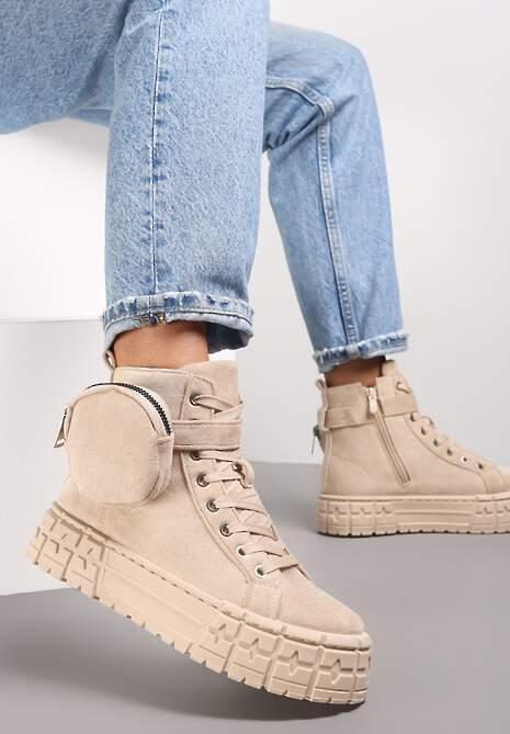 Beżowe Sneakersy Mellialla