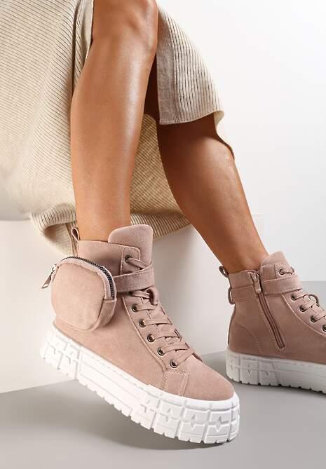 Różowe Sneakersy Mellialla