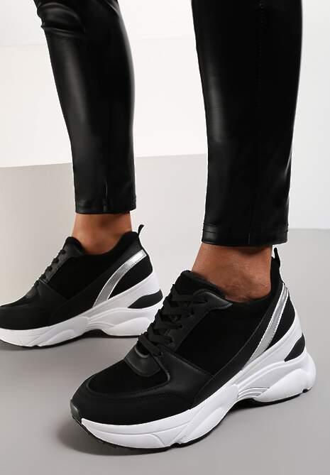 Czarne Sneakersy Calaleia