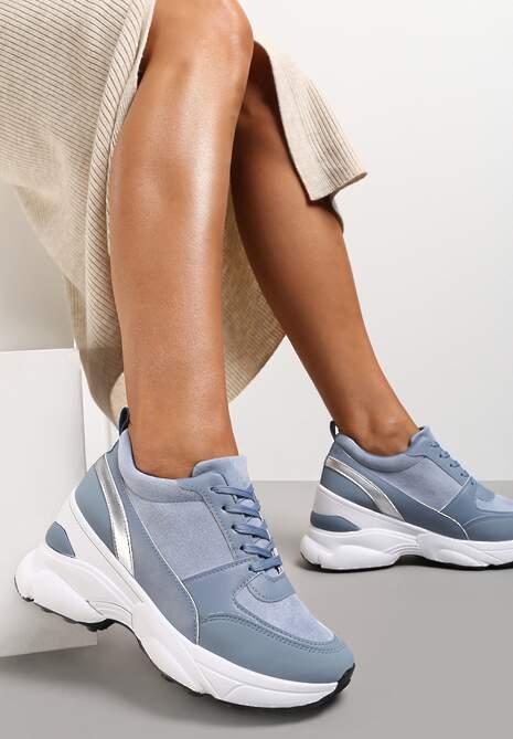 Niebieskie Sneakersy Calaleia