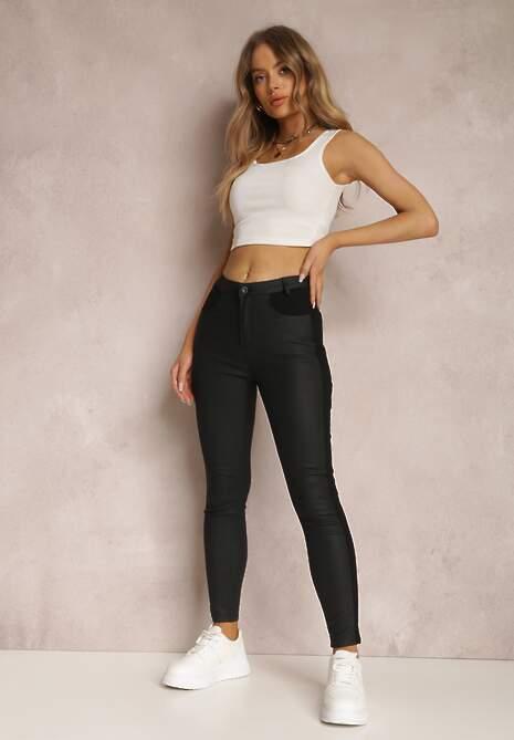 Czarne Spodnie Skinny Eudele