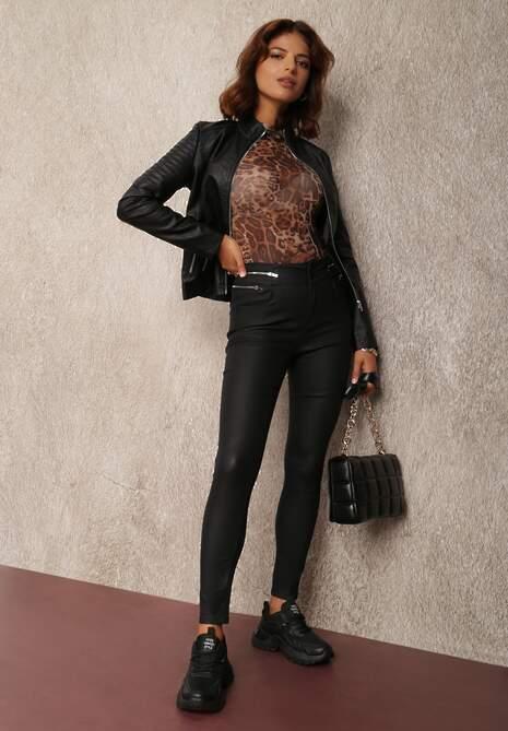 Czarne Spodnie Skinny Egeope